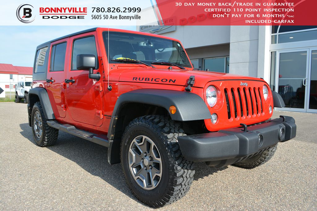 Pre-Owned 2016 Jeep Wrangler Unlimited RUBICON- LEATHER, NAVIGATION, UNDER 70,000 KMS