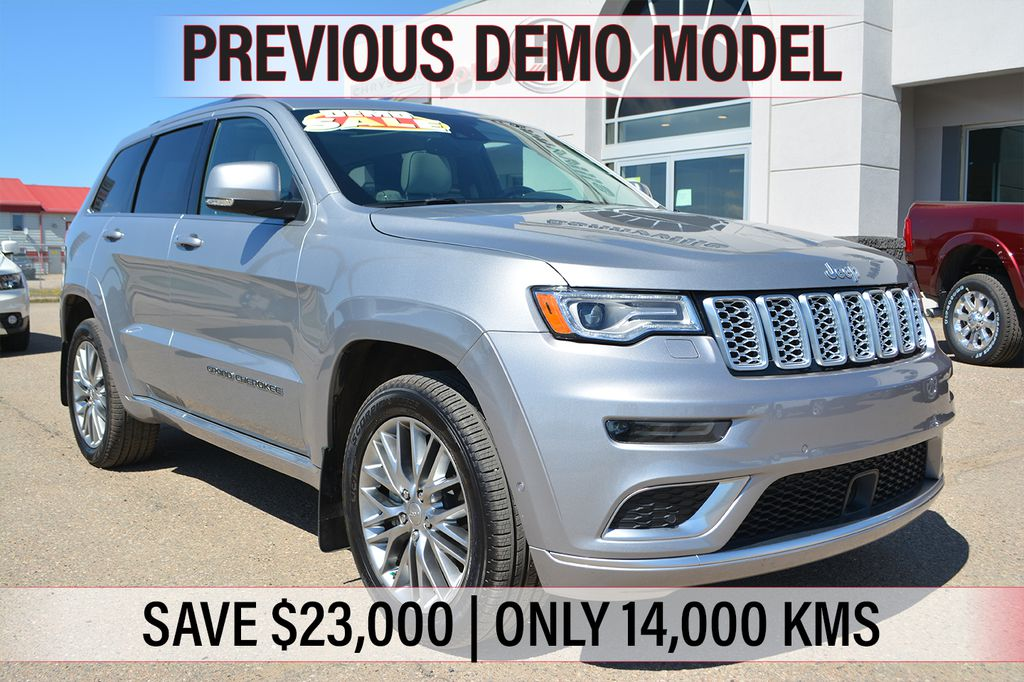 Pre-Owned 2018 Jeep Grand Cherokee SUMMIT- PREVIOUS DEMO, ONLY 14,000 KMS, SAVE $23,000