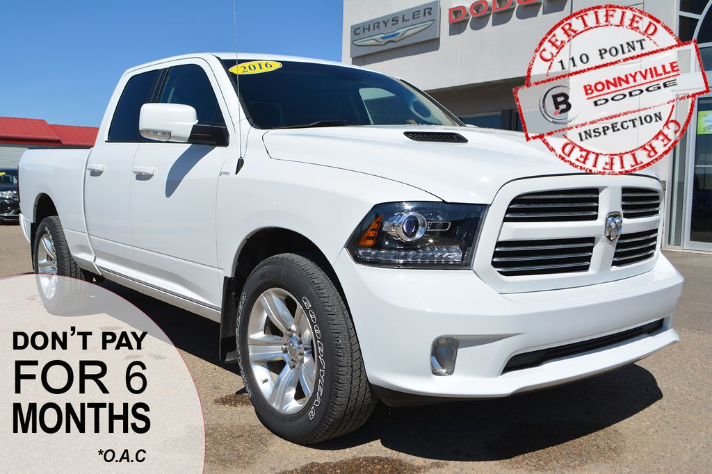 Pre Owned 2016 Ram 1500 Sport Only 70 000 Km Backup Camera Heated