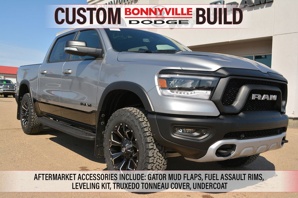 Ram 1500 Rebel >> New 2019 Ram 1500 Rebel Incl Gator Mud Flaps Fuel Assault Rims Leveling Kit Truxedo Tonneau Cover Undercoat Four Wheel Drive 4 Door Pickup