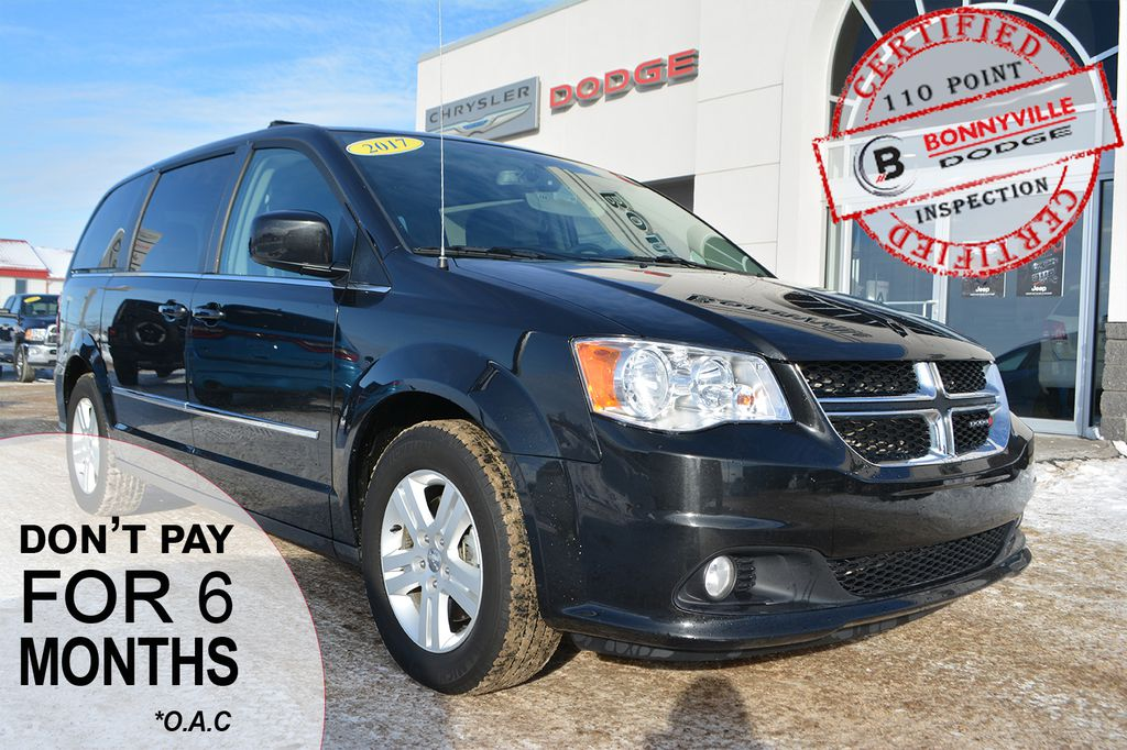 Pre-Owned 2017 Dodge Grand Caravan CREW PLUS- UNDER 45,000 KMS, LEATHER, NAVIGATION