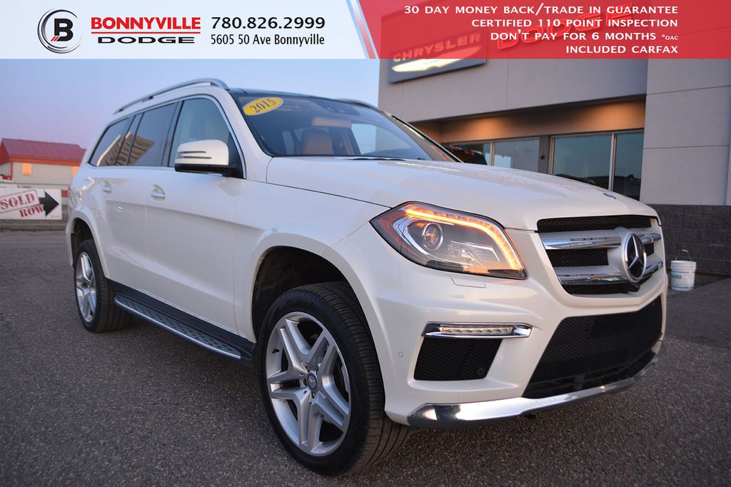 Pre-Owned 2015 Mercedes-Benz GL-Class GL 350 BLUETEC- Leather, Navigation, Massaging Front Seats, 7 Passenger Seating