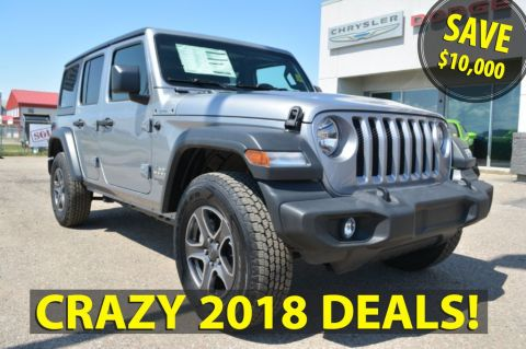 New 2018 Jeep Wrangler Unlimited SPORT- 2018 BLOWOUT SAVE $10,000