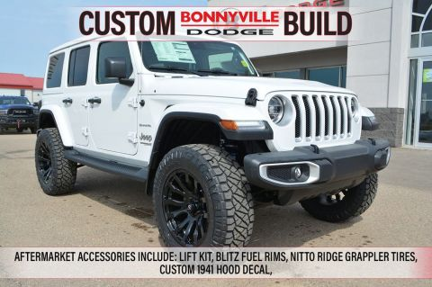New 2019 Jeep Wrangler Unlimited SAHARA- INCL. LIFT KIT, BLITZ FUEL RIMS, NITTO RIDGE GRAPPLER TIRES, HOOD DECAL