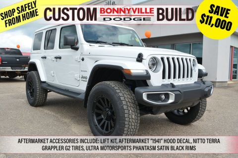 2019 Jeep Wrangler Unlimited SAHARA- INCL. LIFT KIT, 1941 HOOD DECAL, TERRA GRAPPLER G2 TIRES, ULTRA PHANTASM SATIN BLACK RIMS