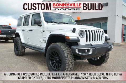 "New 2019 Jeep Wrangler Unlimited SAHARA- INCL. LIFT KIT, ""1941"" HOOD DECAL, TERRA GRAPPLER G2 TIRES, ULTRA PHANTASM SATIN BLACK RIMS"