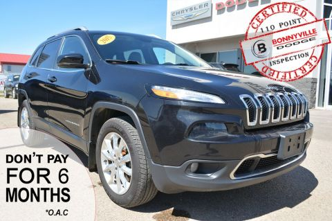 Pre-Owned 2015 Jeep Cherokee LIMITED- LEATHER, KEYLESS ENTRY
