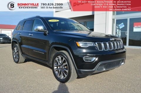 Pre-Owned 2018 Jeep Grand Cherokee LIMITED- Leather, Dual Pane Sunroof, Remote Start, Navigation