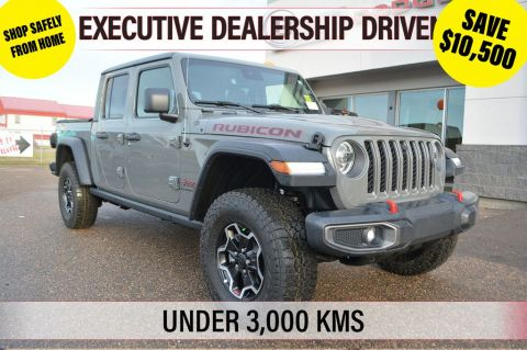 2020 Jeep Gladiator RUBICON- Executive Dealership Driven Vehicle, Under 3,000 km's, Includes 3M Protection