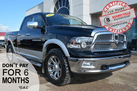 Pre-Owned 2012 Ram 1500 LARAMIE- LEATHER, DVD, TONNEAU COVER, NAVIGATION