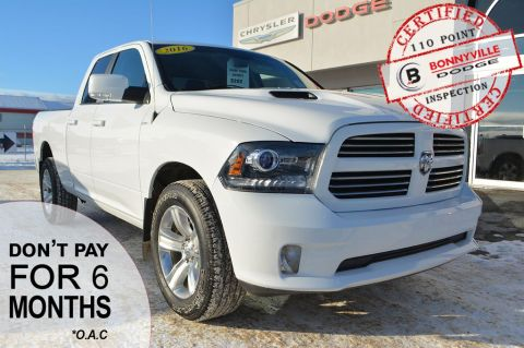 Pre-Owned 2016 Ram 1500 SPORT- Only 70,000 km, Backup Camera, Heated Front Seats