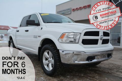 Pre-Owned 2017 Ram 1500 SLT- Under 55,000 km, 6 Passenger Seating, Backup Camera, Good Condition