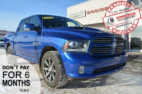 Pre-Owned 2014 Ram 1500 SPORT- Leather, Sunroof, Navigation, Backup Camera,