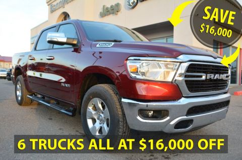 New 2019 Ram 1500 Big Horn 4x4 Crew Cab- SAVE $16,000