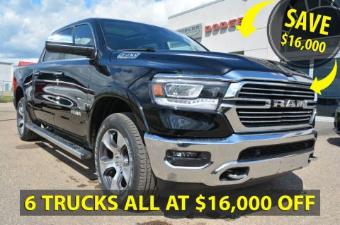 New 2019 Ram 1500 CREW 4X4 LARAMIE- SAVE $16,000