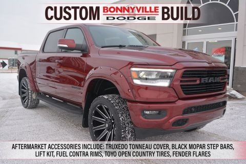 2020 Ram 1500 SPORT- INCL. AFTER MARKET LIFT KIT, TRUXEDO TONNEAU COVER, FUEL CONTRA RIMS AND MORE