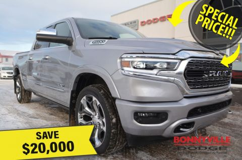 New 2019 Ram 1500 LIMITED CREW- SELECT 2019 RAM TRUCKS NOW $20,000 OFF With Navigation