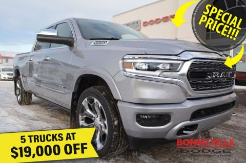 New 2019 Ram 1500 LIMITED CREW- 5 Trucks at $19,000 Off
