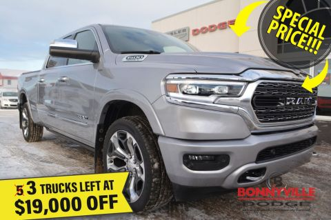 New 2019 Ram 1500 LIMITED CREW- 3 Trucks Left at $19,000 Off