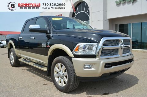 Pre-Owned 2014 Ram 3500 LONGHORN- Leather, Sunroof, Navigation, Remote Start, 6.7L Cummins Turbo Diesel With Navigation